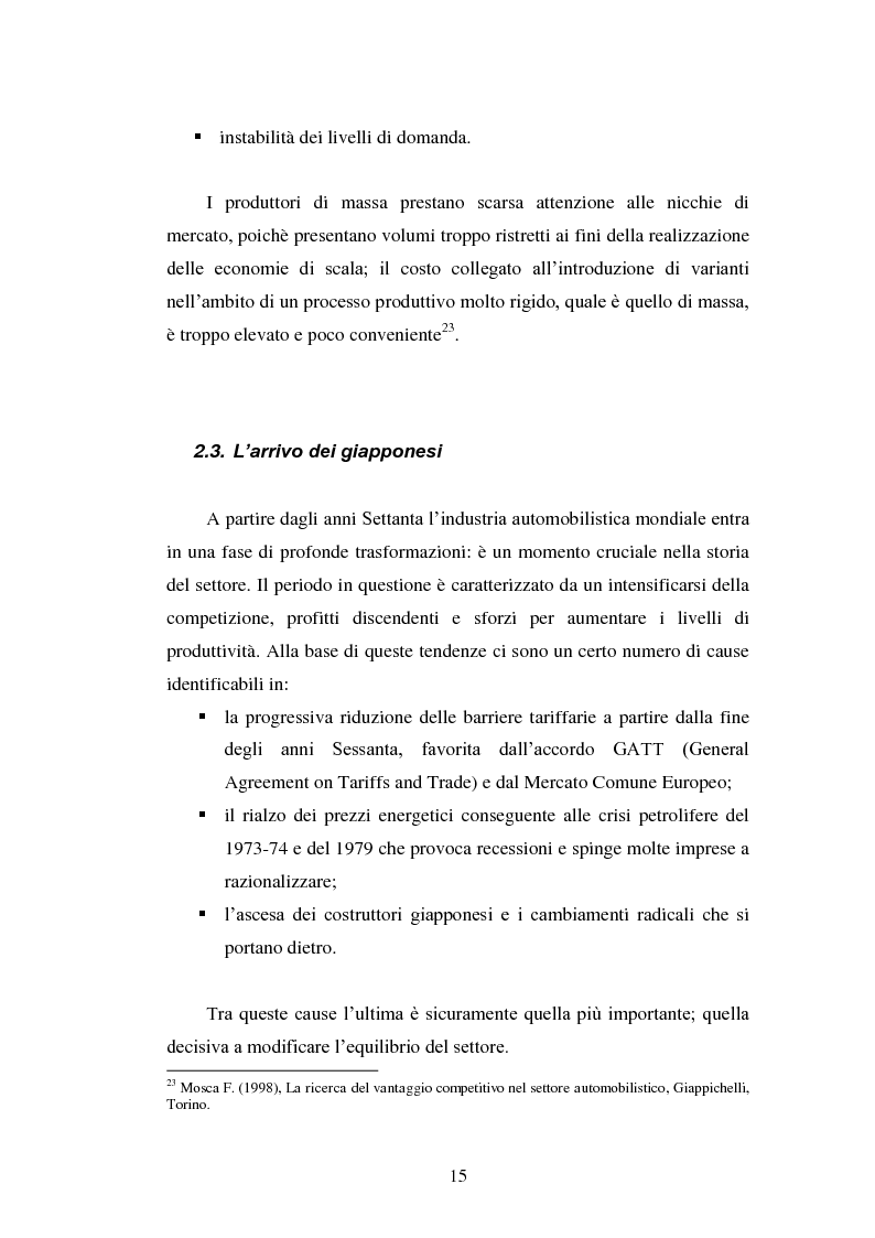 Anteprima della tesi: Le strategie di internazionalizzazione nel settore della componentistica auto: il caso Brembo, Pagina 15