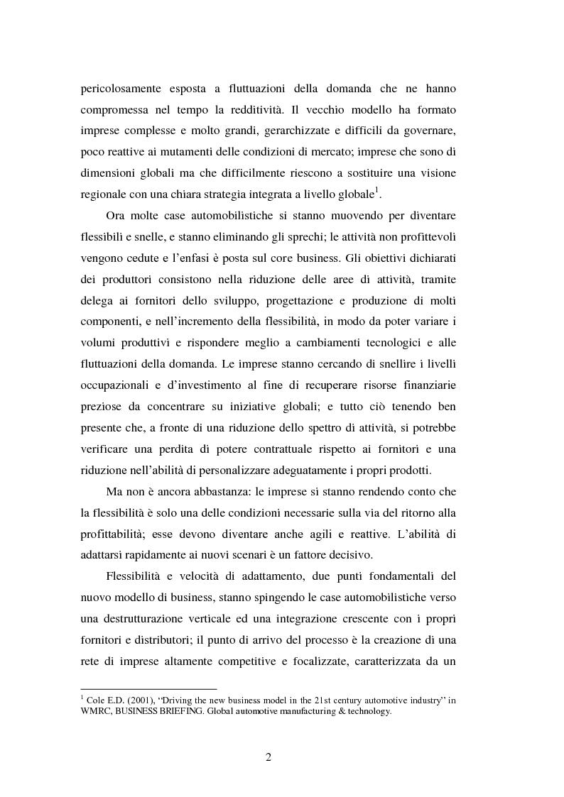 Anteprima della tesi: Le strategie di internazionalizzazione nel settore della componentistica auto: il caso Brembo, Pagina 2