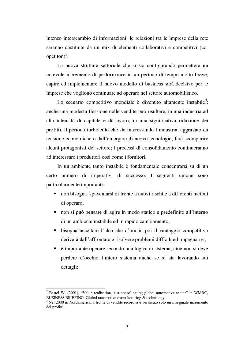 Anteprima della tesi: Le strategie di internazionalizzazione nel settore della componentistica auto: il caso Brembo, Pagina 3