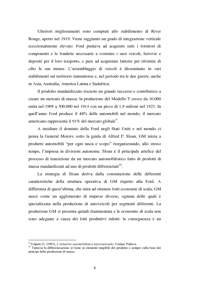 Anteprima della tesi: Le strategie di internazionalizzazione nel settore della componentistica auto: il caso Brembo, Pagina 8