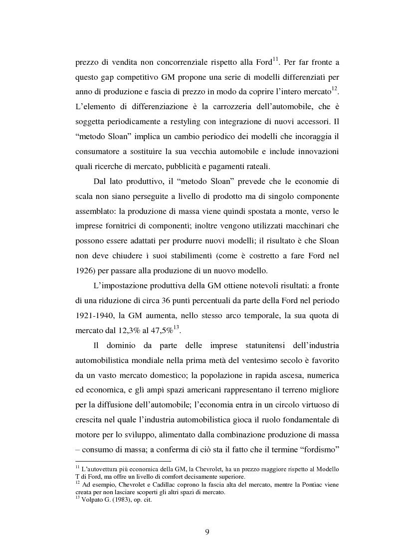 Anteprima della tesi: Le strategie di internazionalizzazione nel settore della componentistica auto: il caso Brembo, Pagina 9