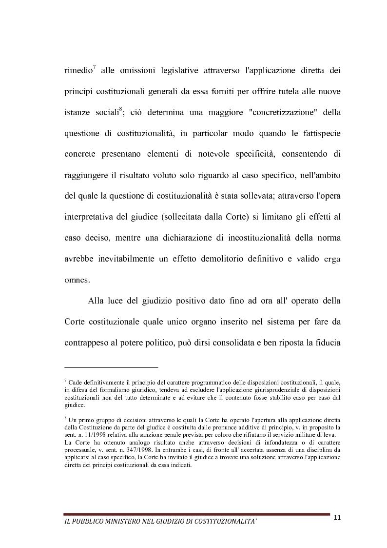Anteprima della tesi: Il Pubblico Ministero nel giudizio di costituzionalità, Pagina 11