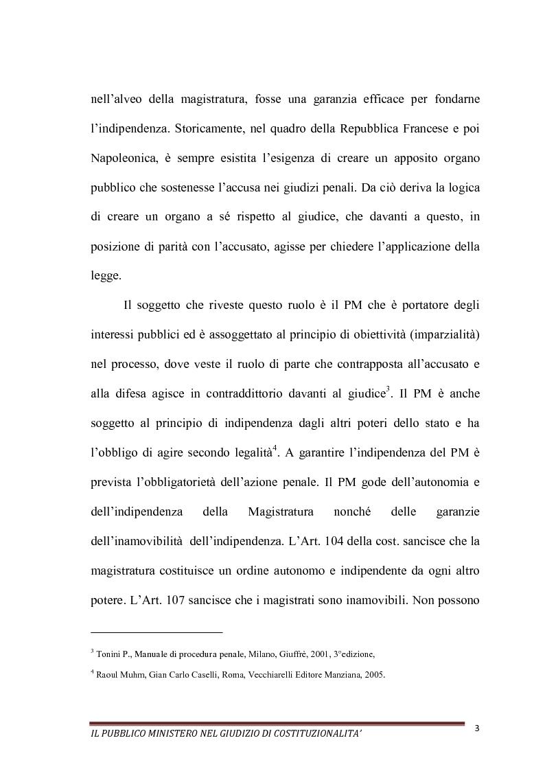 Anteprima della tesi: Il Pubblico Ministero nel giudizio di costituzionalità, Pagina 3