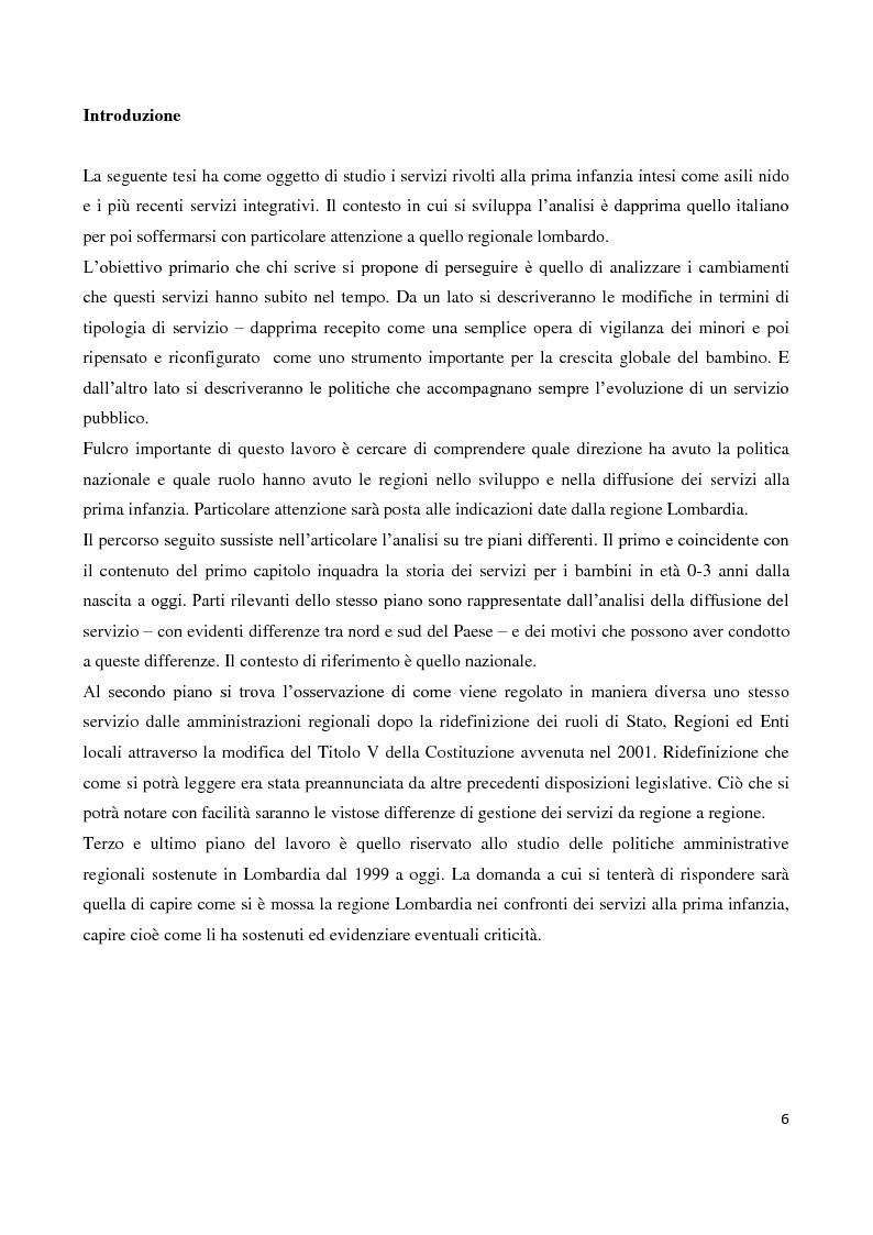 Anteprima della tesi: Servizi socioeducativi in Lombardia, Pagina 1