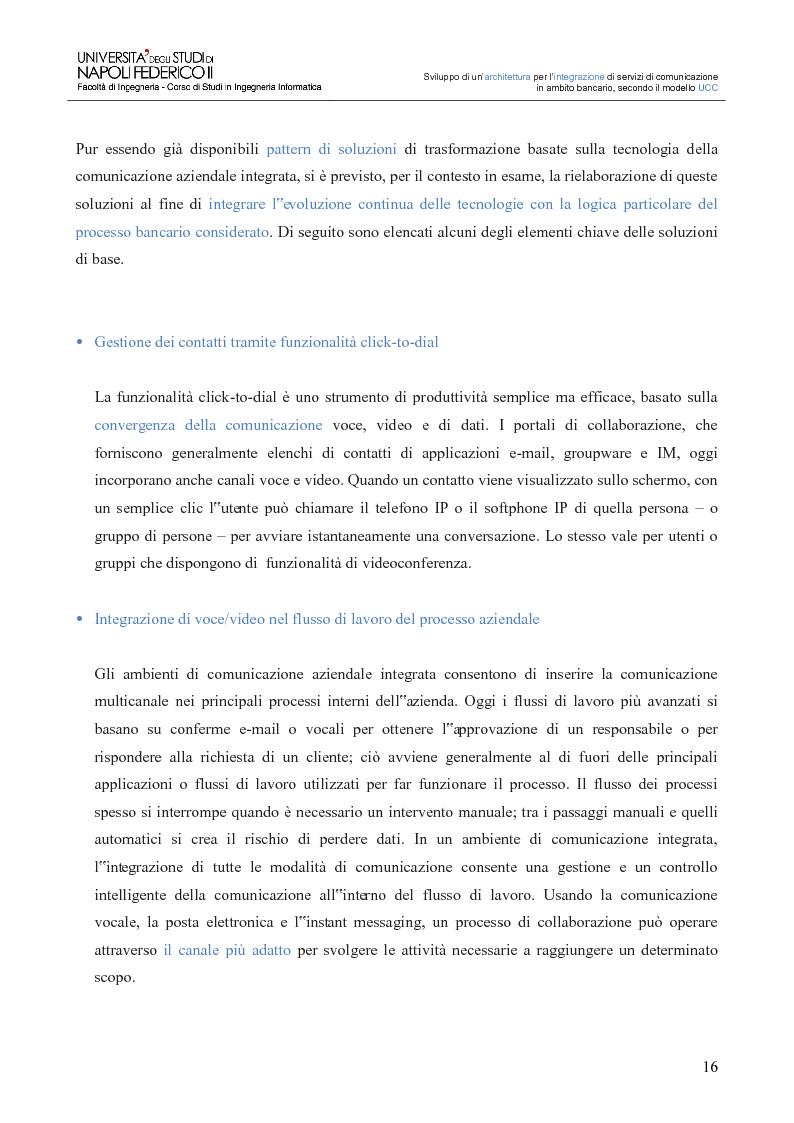 Anteprima della tesi: Sviluppo di un'architettura per l'integrazione di servizi di comunicazione in ambito bancario, secondo il modello UCC, Pagina 11