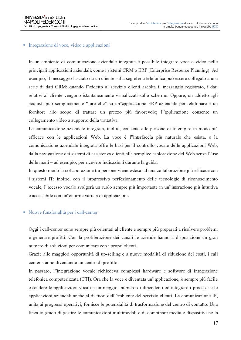 Anteprima della tesi: Sviluppo di un'architettura per l'integrazione di servizi di comunicazione in ambito bancario, secondo il modello UCC, Pagina 12