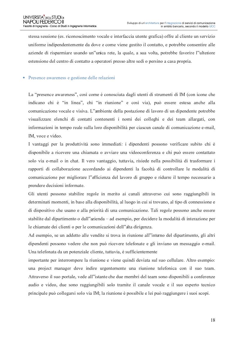 Anteprima della tesi: Sviluppo di un'architettura per l'integrazione di servizi di comunicazione in ambito bancario, secondo il modello UCC, Pagina 13