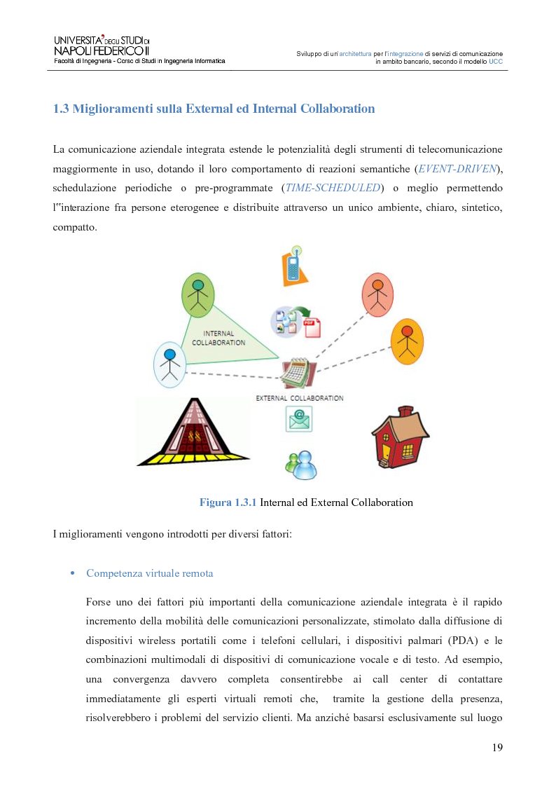 Anteprima della tesi: Sviluppo di un'architettura per l'integrazione di servizi di comunicazione in ambito bancario, secondo il modello UCC, Pagina 14