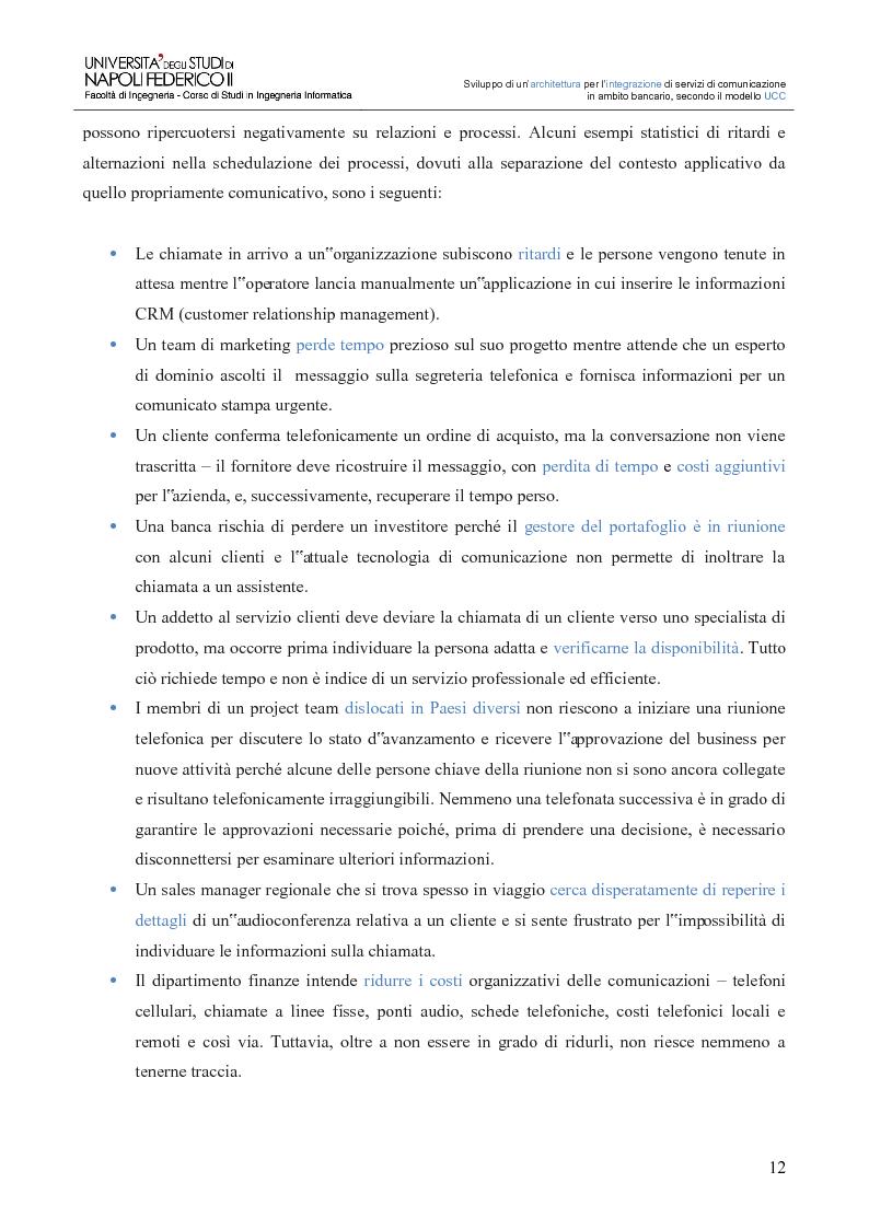 Anteprima della tesi: Sviluppo di un'architettura per l'integrazione di servizi di comunicazione in ambito bancario, secondo il modello UCC, Pagina 7
