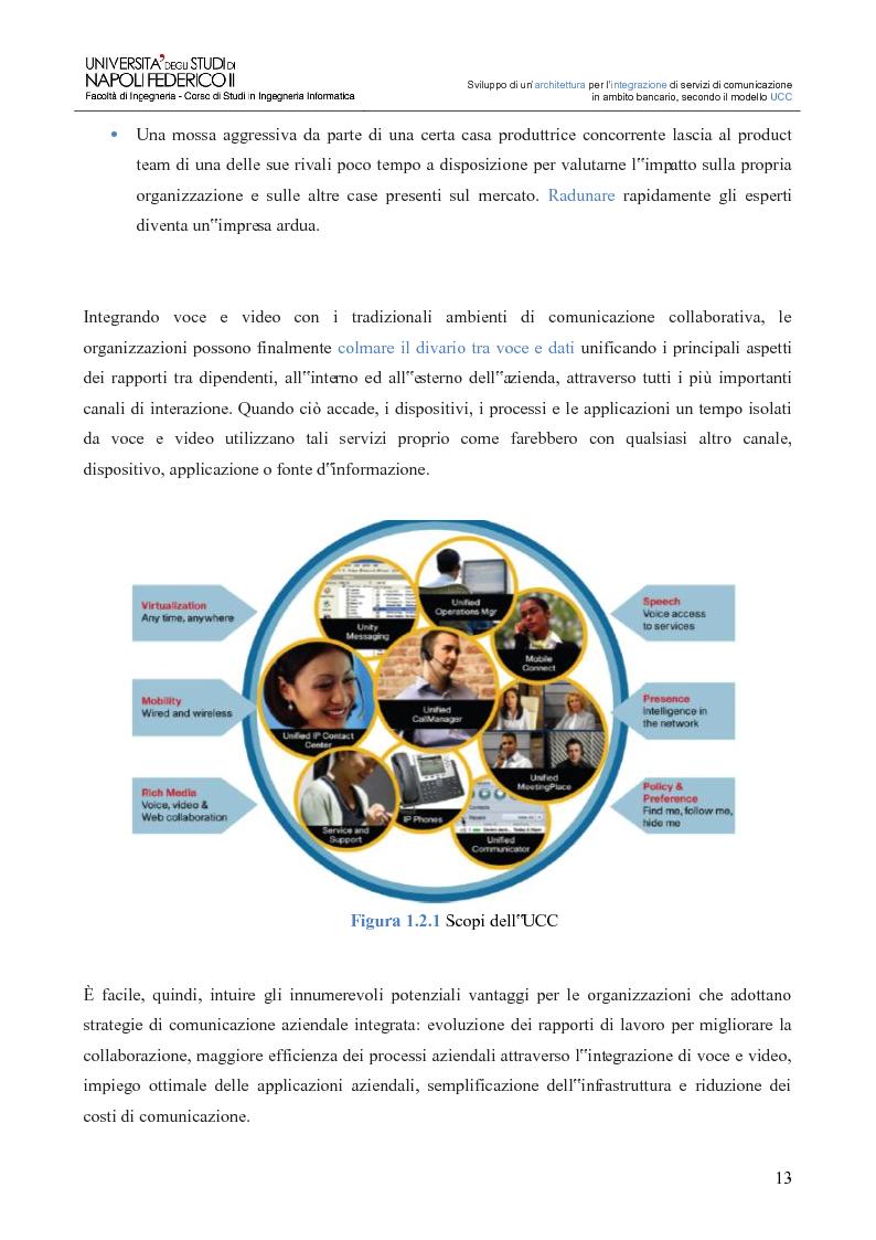 Anteprima della tesi: Sviluppo di un'architettura per l'integrazione di servizi di comunicazione in ambito bancario, secondo il modello UCC, Pagina 8