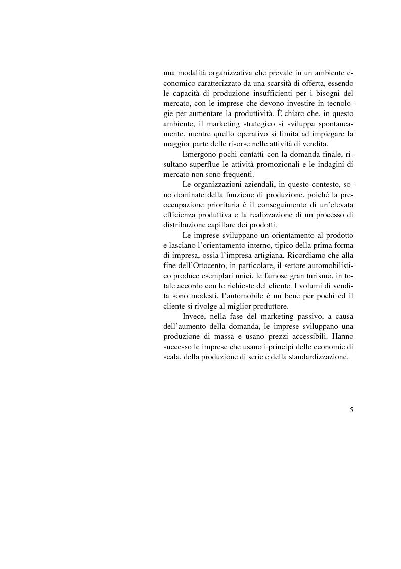 Anteprima della tesi: Il marketing mix nel comparto automobilistico. L'analisi del case study Fiat., Pagina 5
