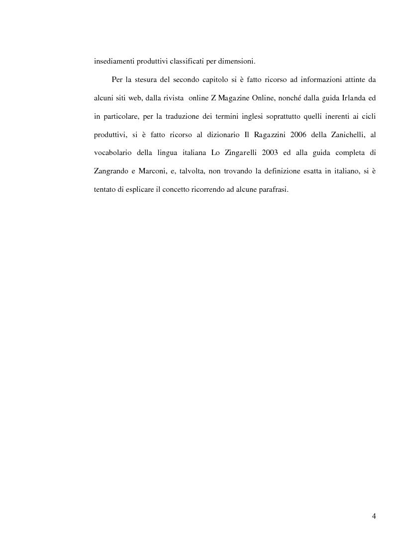 Anteprima della tesi: L'industria della birra nella Repubblica d'Irlanda con particolare riferimento al caso Guinness, Pagina 3