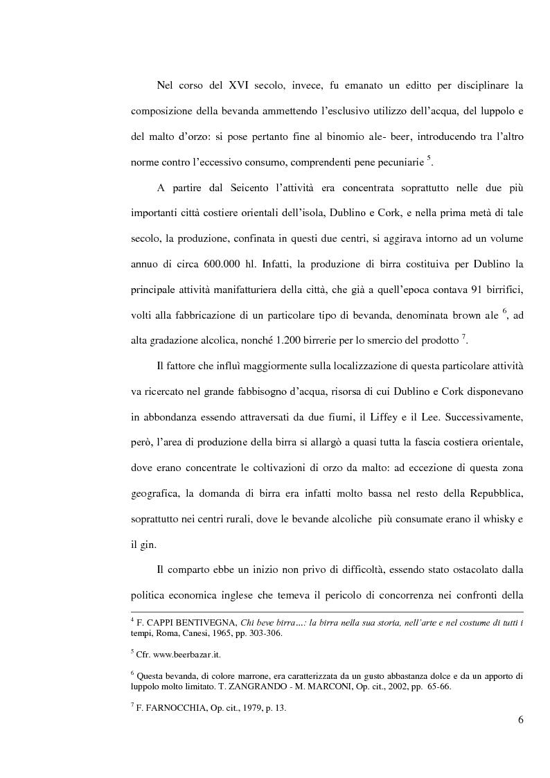 Anteprima della tesi: L'industria della birra nella Repubblica d'Irlanda con particolare riferimento al caso Guinness, Pagina 5
