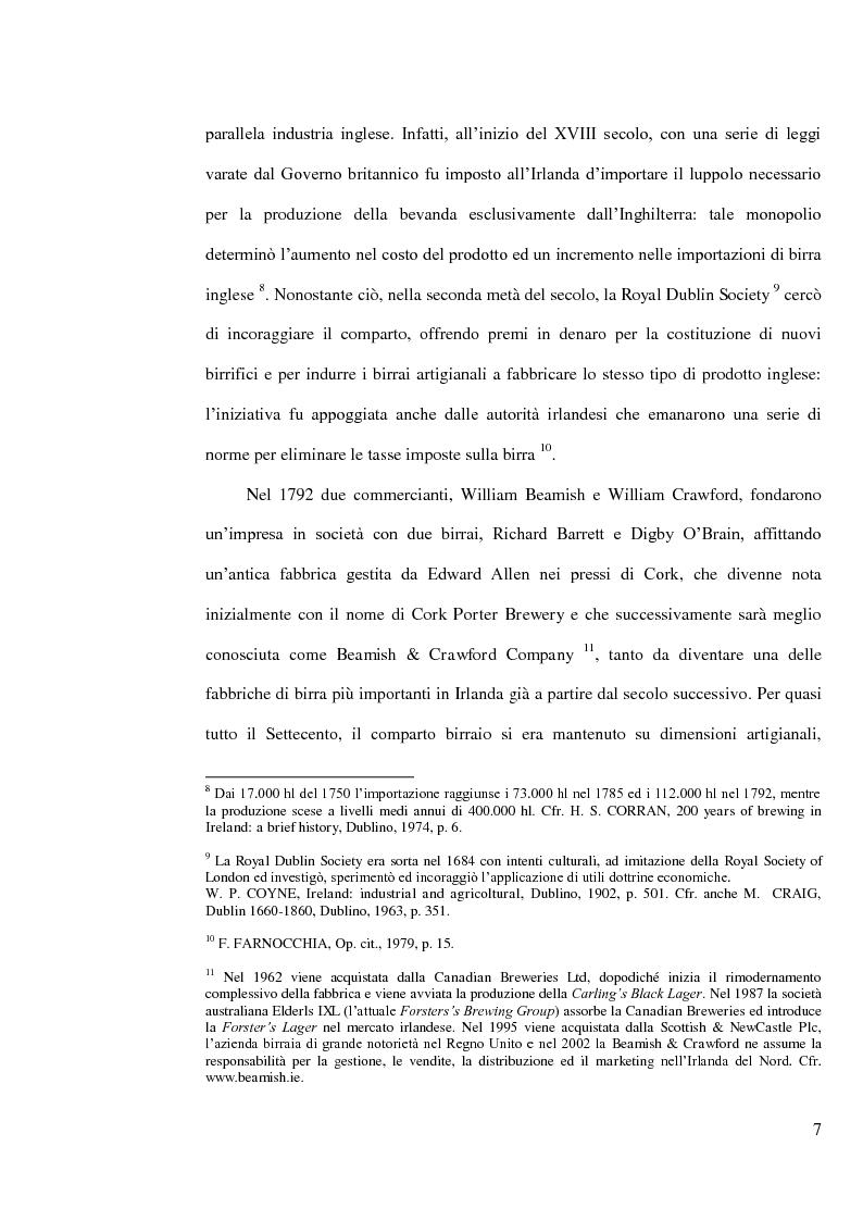 Anteprima della tesi: L'industria della birra nella Repubblica d'Irlanda con particolare riferimento al caso Guinness, Pagina 6