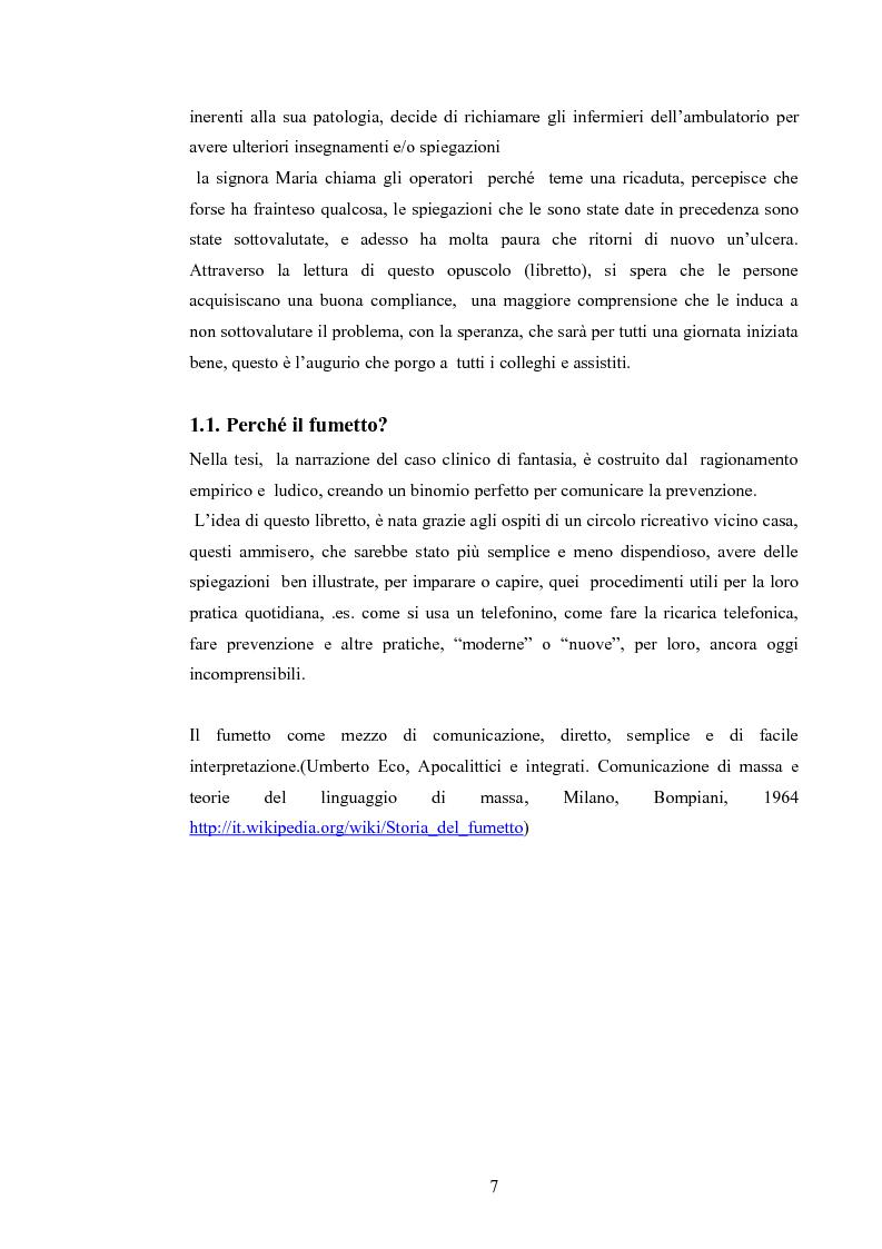 Anteprima della tesi: Elaborazione di una guida informativa illustrata a fumetti per educare le persone a prevenire le recidivedelle ulcere venose agli arti inferiori, Pagina 2