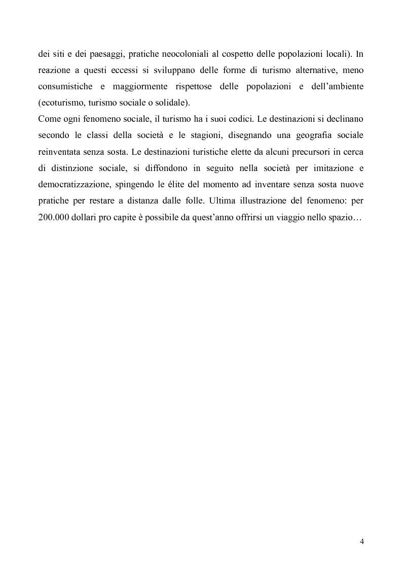 Anteprima della tesi: Dal Grand Tour al turismo alternativo: le nuove frontiere del viaggio, Pagina 2