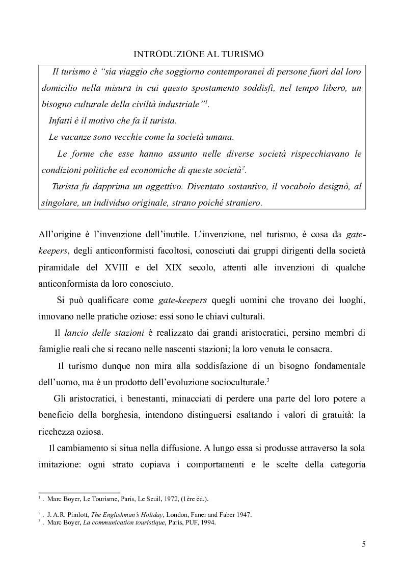 Anteprima della tesi: Dal Grand Tour al turismo alternativo: le nuove frontiere del viaggio, Pagina 3