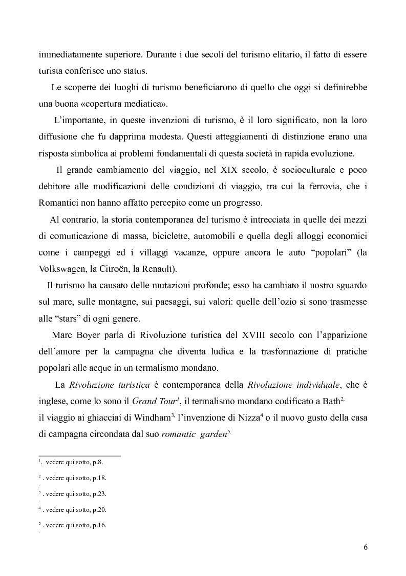 Anteprima della tesi: Dal Grand Tour al turismo alternativo: le nuove frontiere del viaggio, Pagina 4