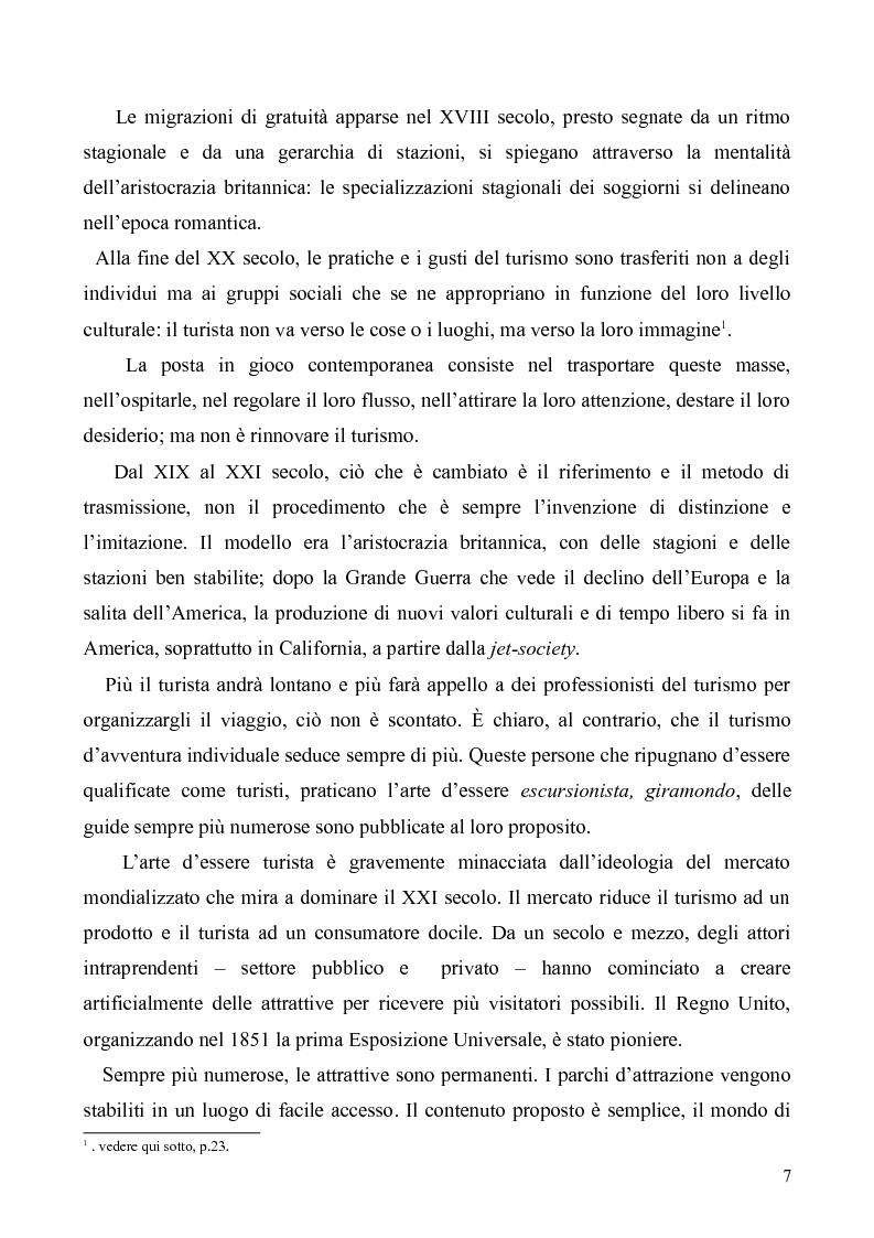 Anteprima della tesi: Dal Grand Tour al turismo alternativo: le nuove frontiere del viaggio, Pagina 5