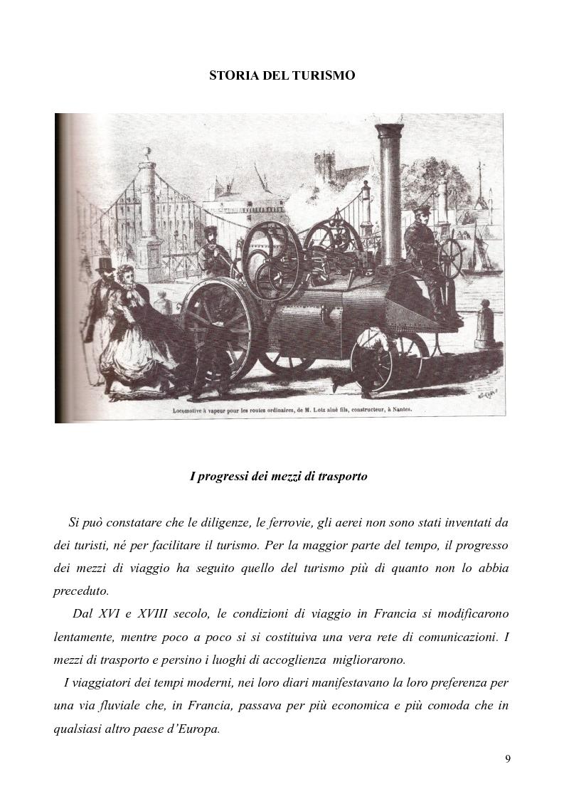 Anteprima della tesi: Dal Grand Tour al turismo alternativo: le nuove frontiere del viaggio, Pagina 7