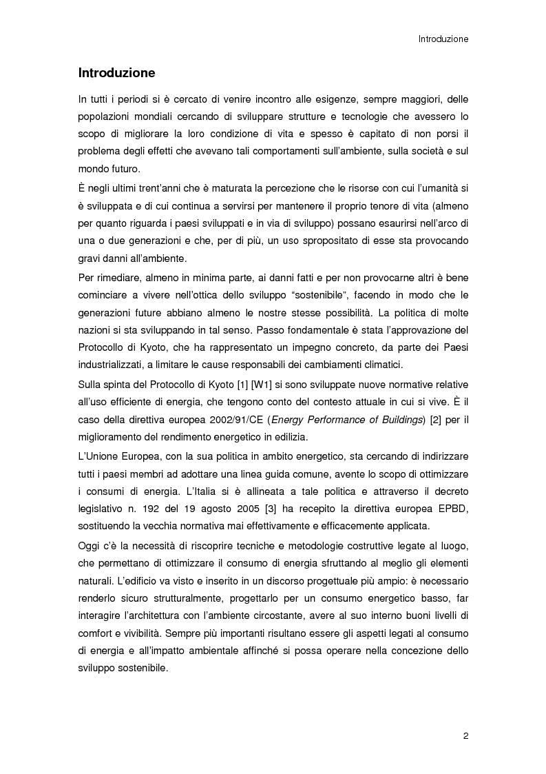 Anteprima della tesi: Risparmio energetico nell'edilizia residenziale: materiali e tecnologie, Pagina 1