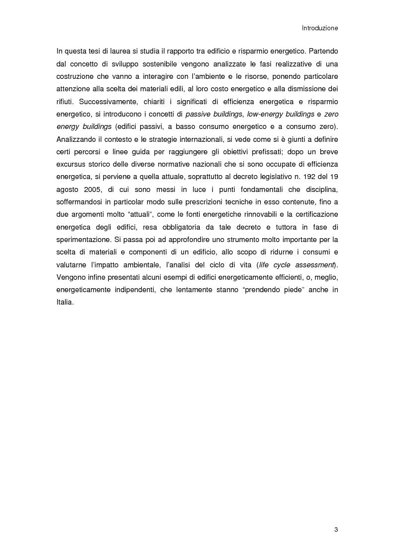 Anteprima della tesi: Risparmio energetico nell'edilizia residenziale: materiali e tecnologie, Pagina 2