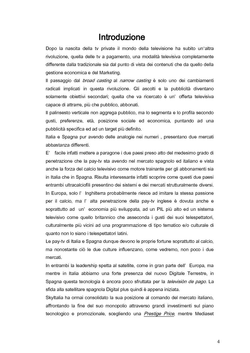 Anteprima della tesi: Il marketing della pay-tv tra Italia e Spagna, Pagina 1