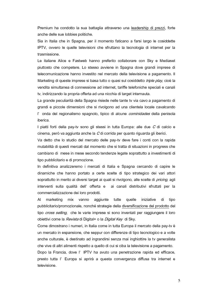 Anteprima della tesi: Il marketing della pay-tv tra Italia e Spagna, Pagina 2