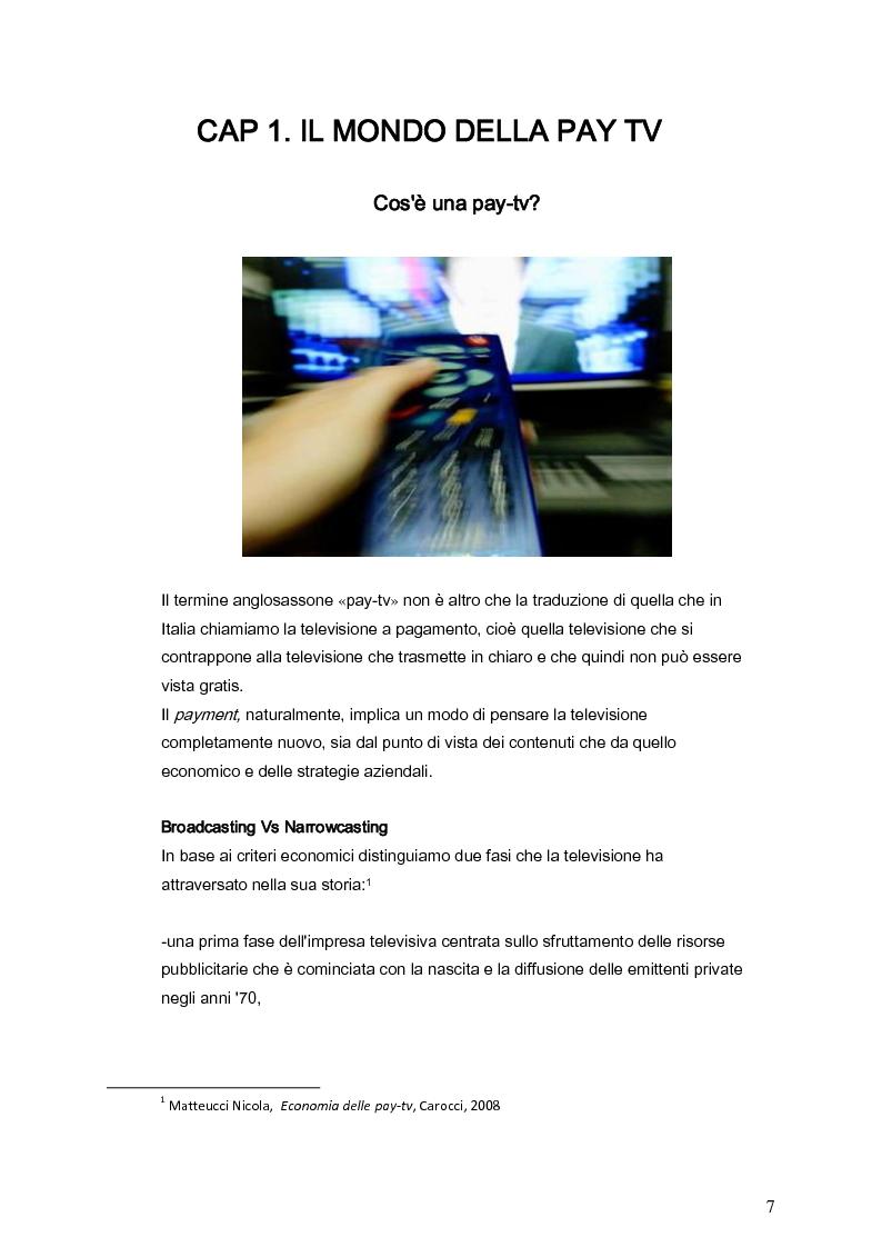 Anteprima della tesi: Il marketing della pay-tv tra Italia e Spagna, Pagina 4