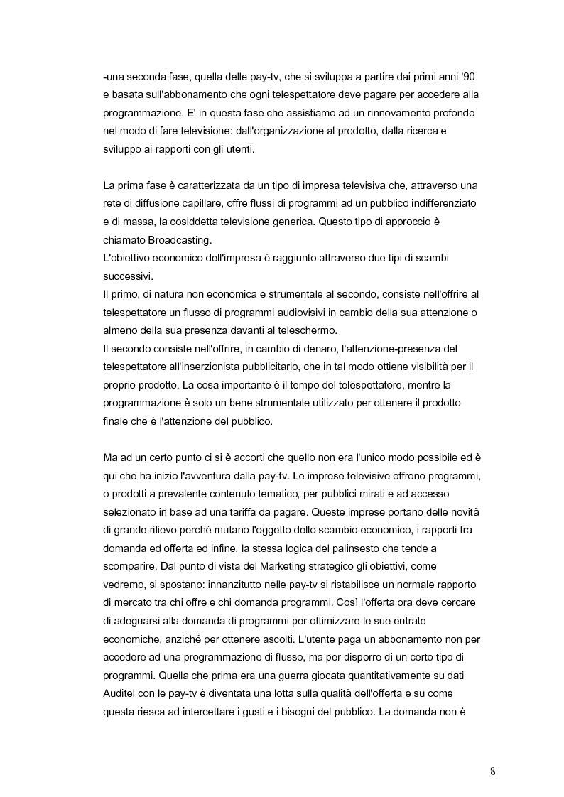 Anteprima della tesi: Il marketing della pay-tv tra Italia e Spagna, Pagina 5