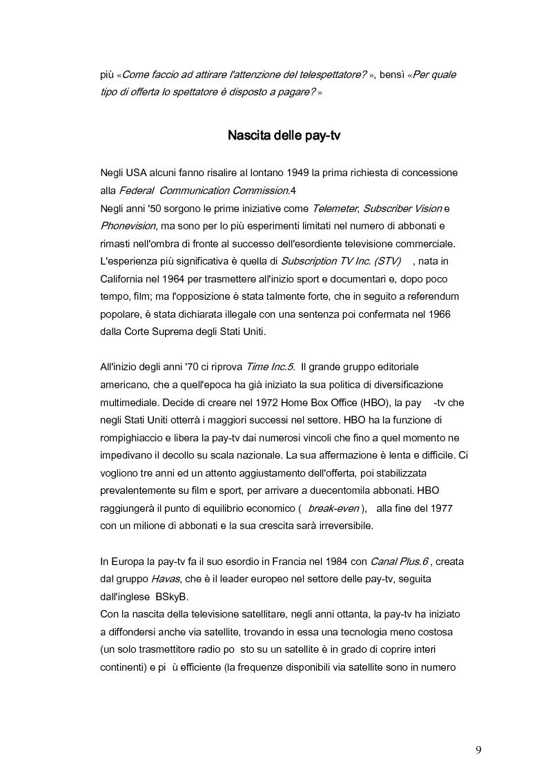 Anteprima della tesi: Il marketing della pay-tv tra Italia e Spagna, Pagina 6