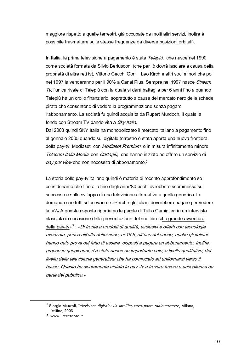 Anteprima della tesi: Il marketing della pay-tv tra Italia e Spagna, Pagina 7
