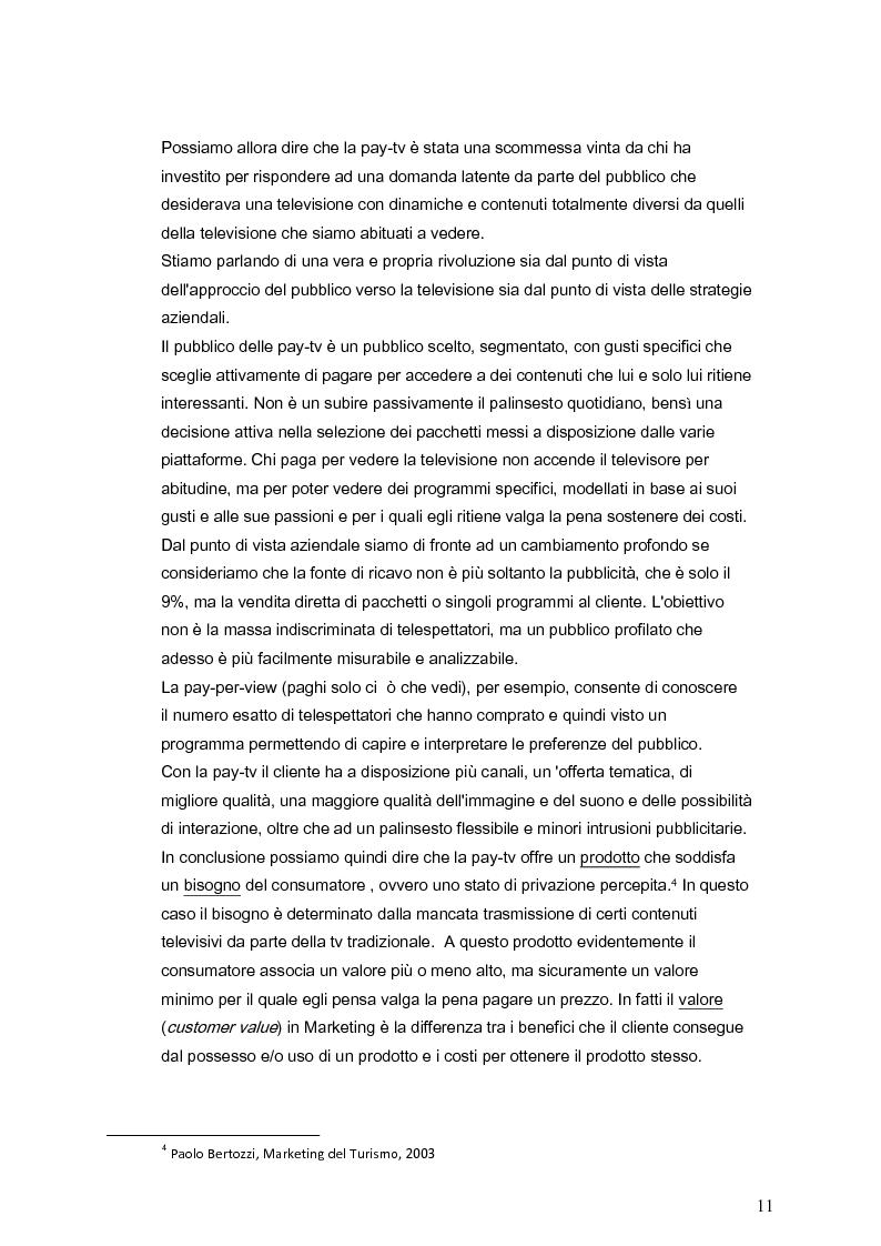 Anteprima della tesi: Il marketing della pay-tv tra Italia e Spagna, Pagina 8