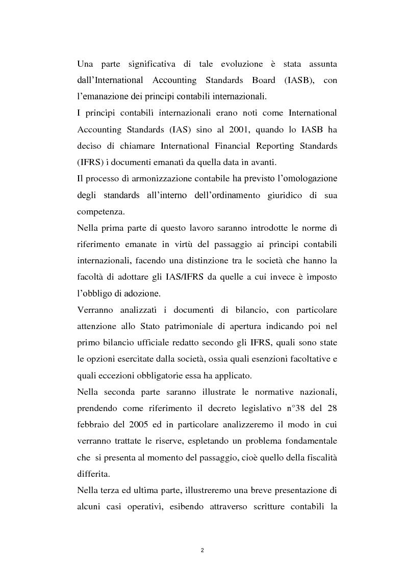 Anteprima della tesi: La prima adozione degli IAS/IFRS, Pagina 2