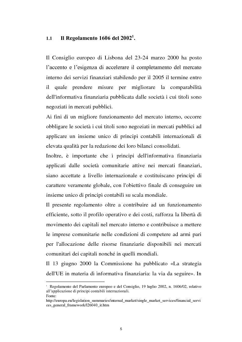 Anteprima della tesi: La prima adozione degli IAS/IFRS, Pagina 5