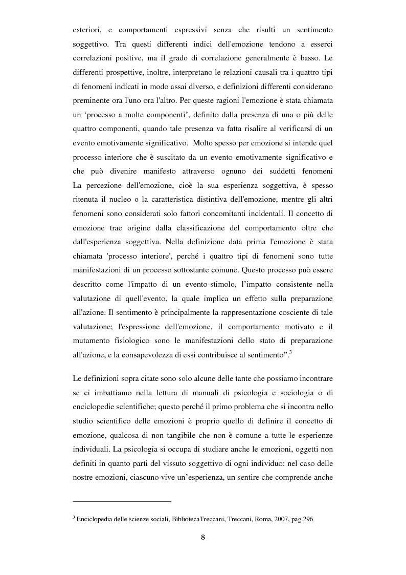 Anteprima della tesi: Emozioni e comunicazione: le espressioni del volto, Pagina 2
