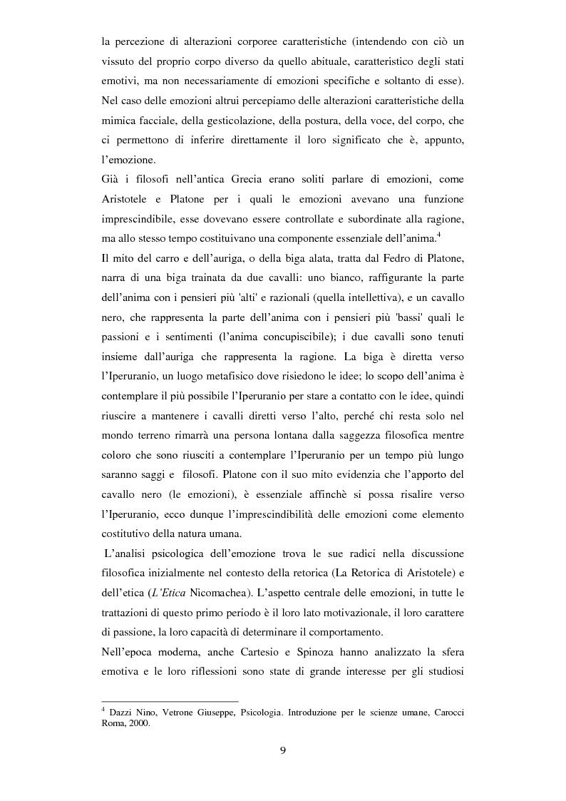 Anteprima della tesi: Emozioni e comunicazione: le espressioni del volto, Pagina 3
