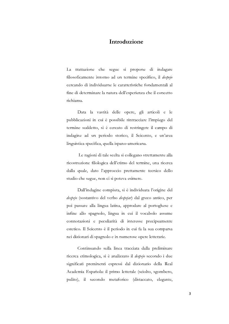 Anteprima della tesi: La nozione di despejo tra Seicento e Settecento, Pagina 1