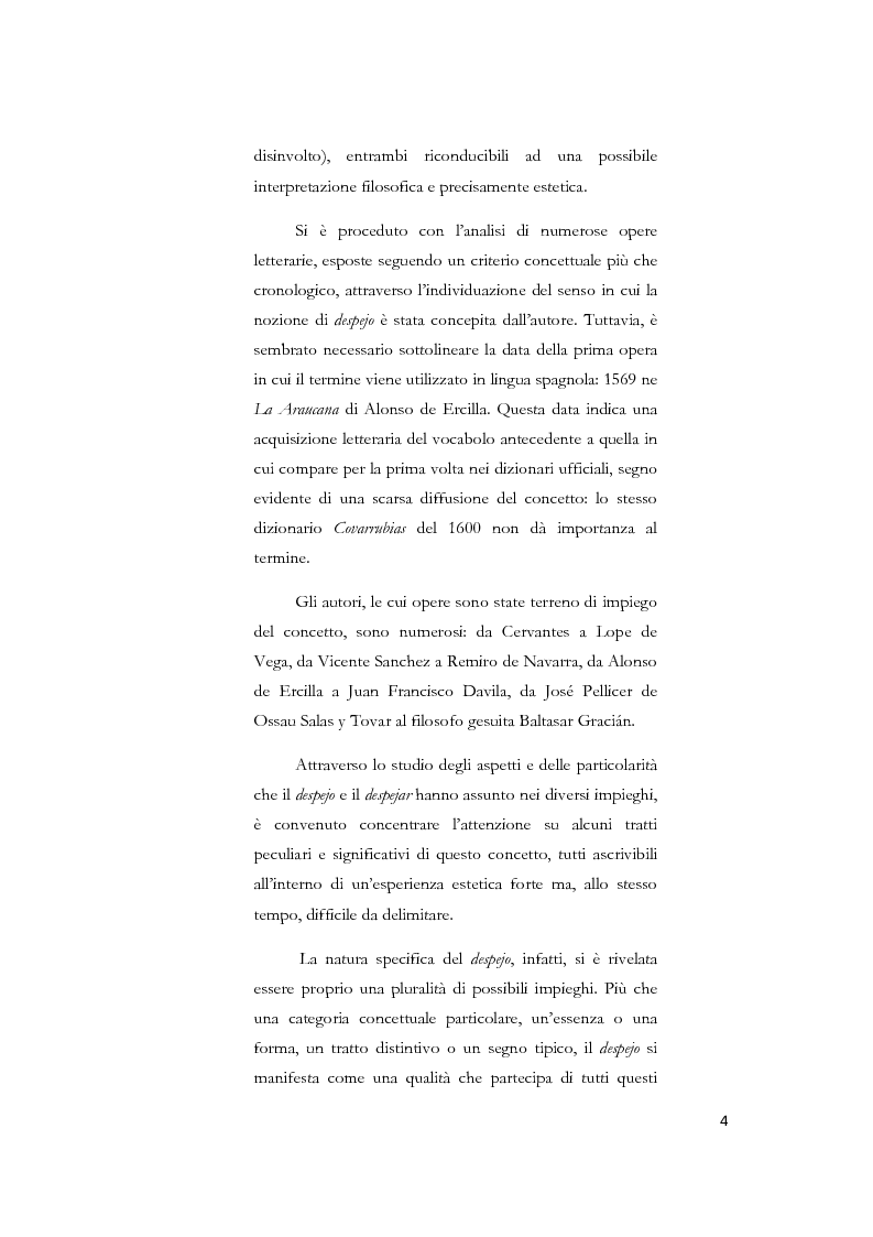 Anteprima della tesi: La nozione di despejo tra Seicento e Settecento, Pagina 2