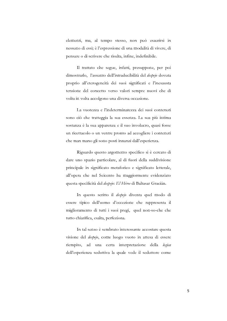 Anteprima della tesi: La nozione di despejo tra Seicento e Settecento, Pagina 3