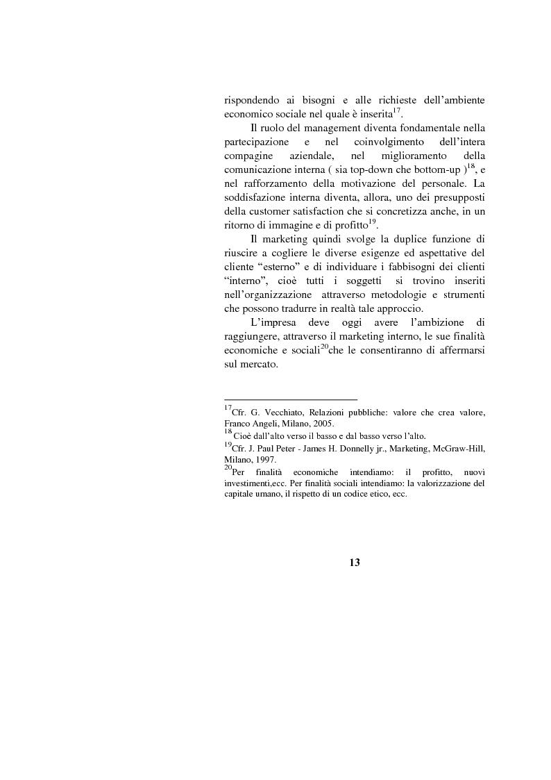 Anteprima della tesi: Il marketing interno nelle aziende di servizi: il caso Banca Intesa-Sanpaolo, Pagina 11