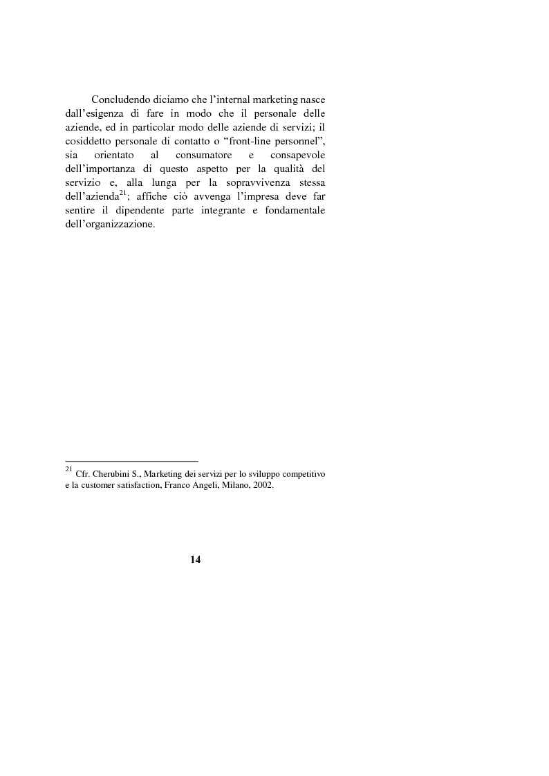 Anteprima della tesi: Il marketing interno nelle aziende di servizi: il caso Banca Intesa-Sanpaolo, Pagina 12