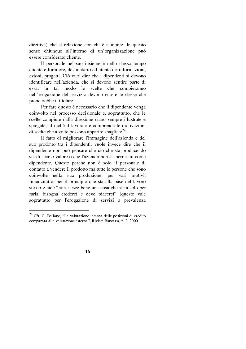 Anteprima della tesi: Il marketing interno nelle aziende di servizi: il caso Banca Intesa-Sanpaolo, Pagina 14