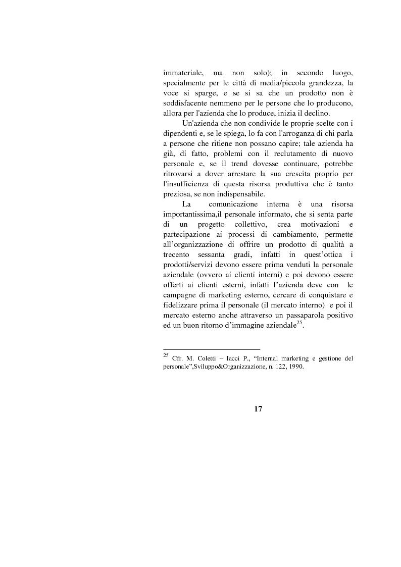 Anteprima della tesi: Il marketing interno nelle aziende di servizi: il caso Banca Intesa-Sanpaolo, Pagina 15