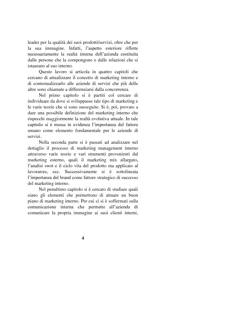 Anteprima della tesi: Il marketing interno nelle aziende di servizi: il caso Banca Intesa-Sanpaolo, Pagina 2