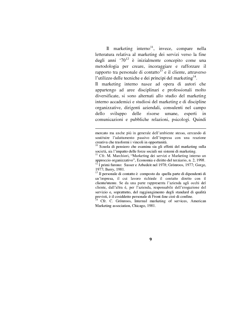Anteprima della tesi: Il marketing interno nelle aziende di servizi: il caso Banca Intesa-Sanpaolo, Pagina 7