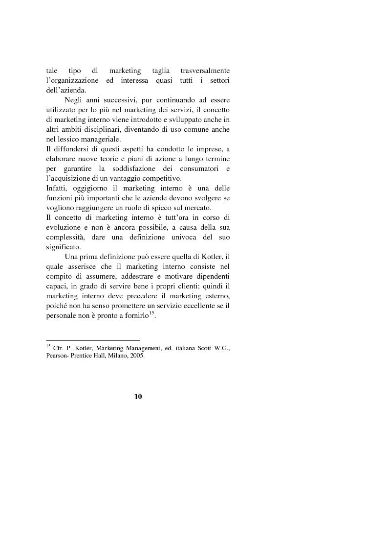 Anteprima della tesi: Il marketing interno nelle aziende di servizi: il caso Banca Intesa-Sanpaolo, Pagina 8