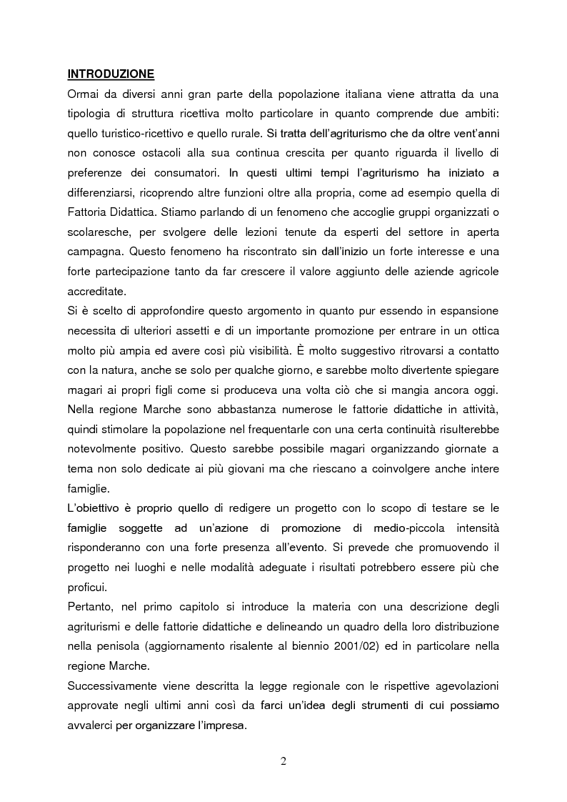 Anteprima della tesi: Le fattorie didattiche, Pagina 1
