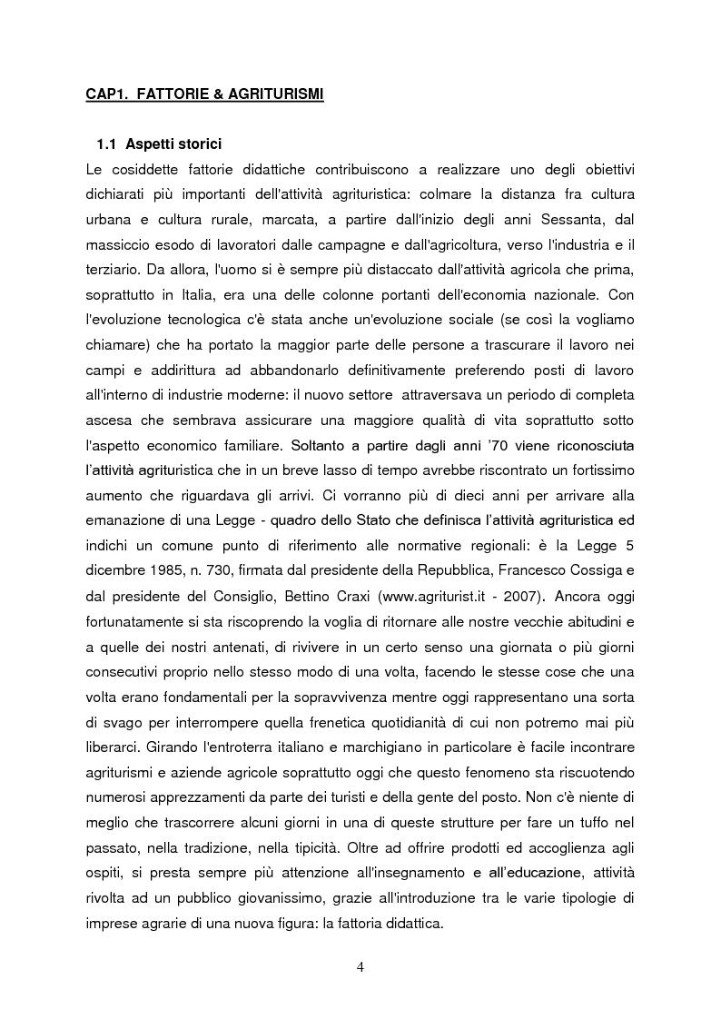Anteprima della tesi: Le fattorie didattiche, Pagina 3