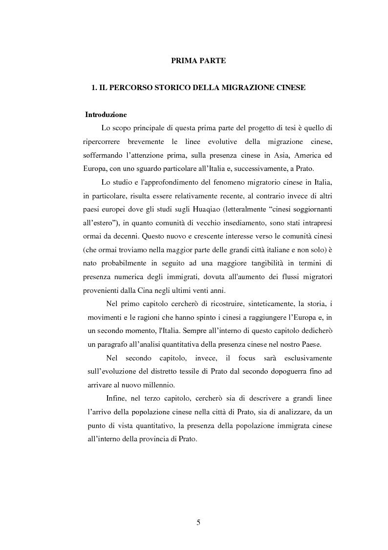Anteprima della tesi: Immigrazione e imprenditoria cinese nel distretto di Prato, Pagina 3